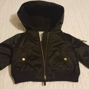 New Baby Burberry hooded jacket with lining/6 mont